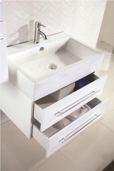 l meuble sdb 2 tiroirs blanc 75 cm 579 eu meubles de salle de bain. Black Bedroom Furniture Sets. Home Design Ideas